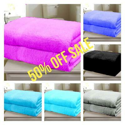 2 X Super 750GSM Luxury Jumbo Bath sheets  Extra Large Bath towels 110cm x 210cm