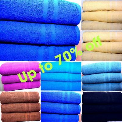 3 X Luxury Super Jumbo Bath Sheets Egyptian Combed Cotton Towels 90cm x 160cm