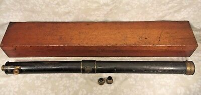 Antique John Browning Telescope in Wood Case RARE! No Stand London England