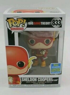 Sheldon Cooper as the Flash SDCC 2019 IN HAND Funko Pop Figure Big Bang Theory