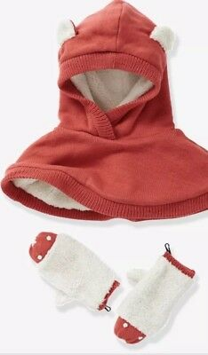 Girls Hooded Cape And Gloves Set 3-5 Years by vertbaudet