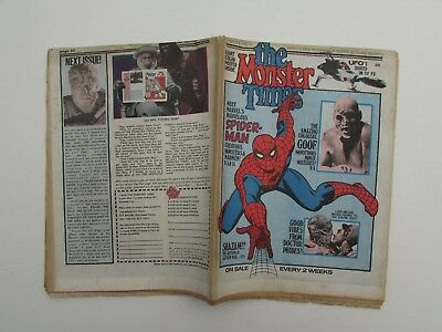 THE MONSTER TIMES VOL 1 #13 JUL 19 1972: Spiderman, UFO, Abominable Dr Phibes