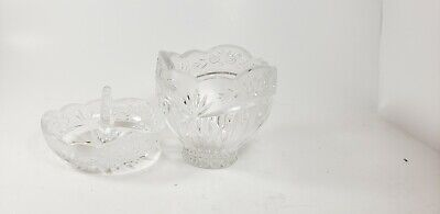 "Oneida Crystal Germany ""Southen Garden"" Crystal Oneida Small Bowl 2 pieces"