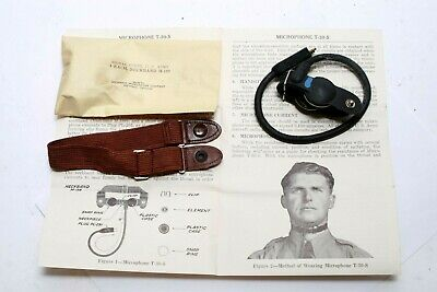 WW2 US Army Navy Marines Pilot & Air Crew T-30-S THROAT MICROPHONE - Open Box!