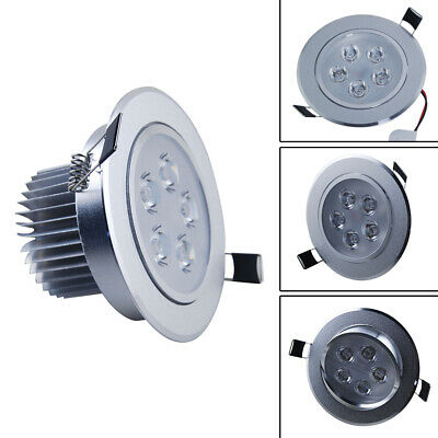 Round 5W LED Recessed Ceiling Down Lights Spotlights Warm White Angle Adjustment