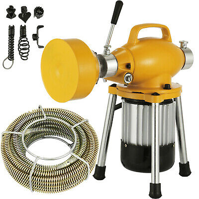 400W Drain Cleaner Electric Plumbing Sewerage Pipe Machine Ø20-100mm w/ Cutters