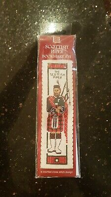 Scottish Highland Piper and Bagpipes Bookmark Cross Stitch Kit