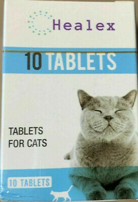 10 Tablets Healex Cat Dewormer Tablets for treatment of Tapeworm & Roundworm NEW