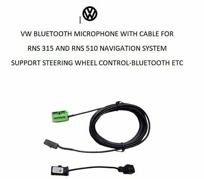 Vw Rns 315 Rns 510 Bluetooth Microphone And Cable - Retrofit Stalk Control Etc