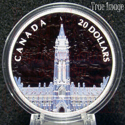 2019 Lights of Parliament Hill $20 1 OZ Pure Silver Proof Glow-In-The-Dark Coin