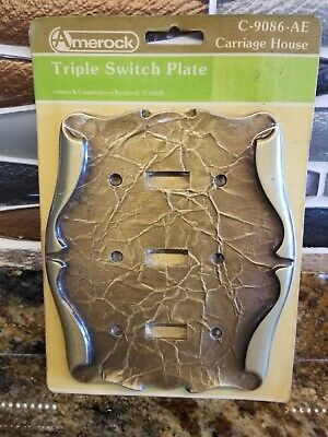 New Amerock Carriage House Triple Switch Plate 3 Toggle Switch Plate Cover