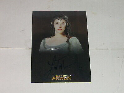 2004 Topps Chrome Lord of the Rings Trilogy Liv Tyler as Arwen Autograph