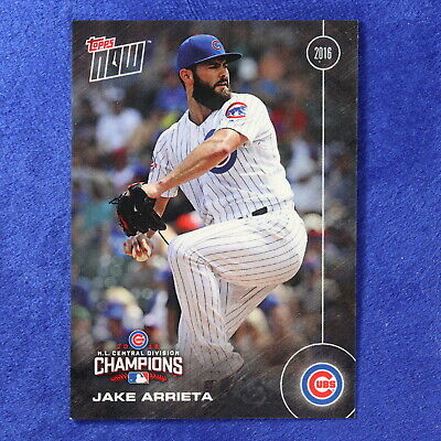2016 Topps Now Card #CHC-11: Chicago Cubs Jake Arrieta
