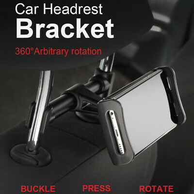 360° Car Back Seat Headrest Mount Phone Holder Bracket Stand For Mobiles GPS KY