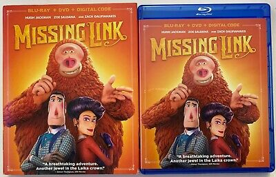 Missing Link Blu Ray Dvd 2 Disc Set + Slipcover Sleeve Free World Wide Shipping