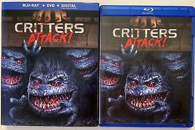 Critters Attack! Blu Ray Dvd 2 Disc Set + Slipcover Sleeve Free World Shipping