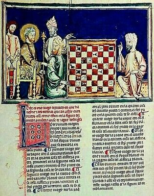 CHESS PROBLEMS Illum-Manuscript  COLLECTION OF 3 High Quality  RE-PRODUCTION