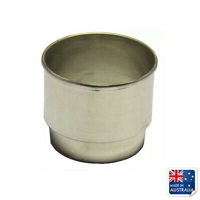 Stainless Steel Milkshake Collar To Suit 90mm ID Cups 42mmH Milk Thick Shake