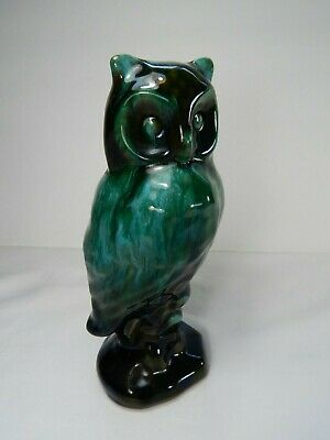 """Blue Mountain Pottery Perched Owl. Vintage. Canada. 7 1/2"""" Tall."""