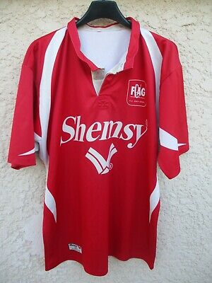 Maillot rugby AUCH GERS FCGA vintage SHEMSY rouge shirt collection jersey L