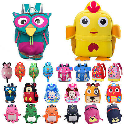 Toddler Kids Boys Girls Bags 3D Cartoon Rucksack School Bag Adjustable Backpack