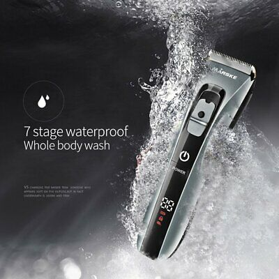 Waterproof Household Ceramic Cutter Head Hair Clipper Electric Hair Trimmer KC