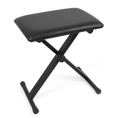 Kmise Piano Keyboard Bench Stool Adjustable Portable Seat Chair for Practice