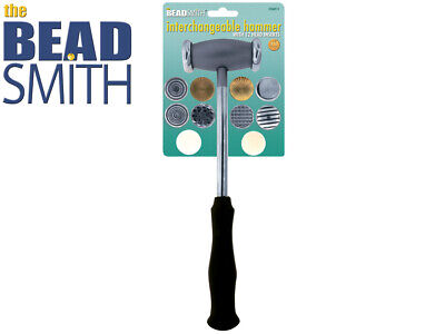 Beadsmith Interchangeable Hammer With 12 Head Inserts
