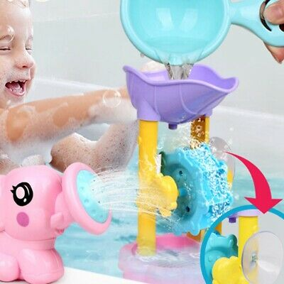 Hot Children Baby Swimming Bath Toys Cute Elephant Watering Pot Showering @honor