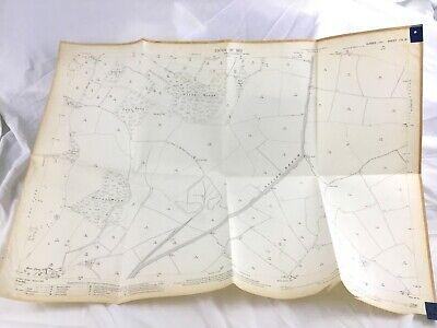 1910 Antique Map of Sussex Glynde South Downs Lewes Decoy Wood
