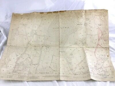 1910 Antique Map of Sussex  Heron's Ghyll Uckfield Lewes Sweethaws Grange