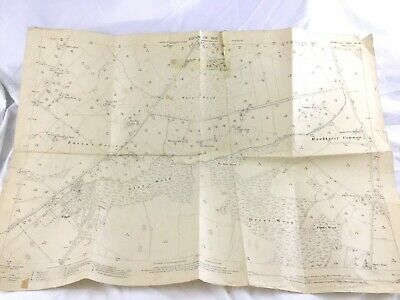 1910 Antique Map of Sussex Easons Green Uckfield Lewes Framfield Whyly