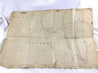 1910 Antique Map of Sussex Southease Village Lewes Parish Rodmell