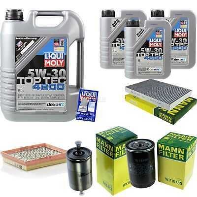 Inspection Kit Filter Liqui Moly Can Oil 8L 5W-30 for Audi A6 4B C5 RS6