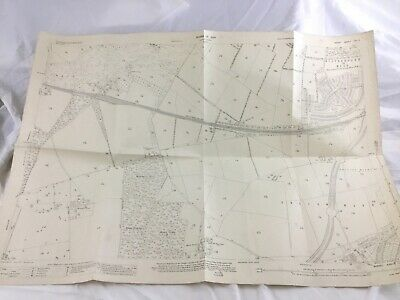 1934 Antique Map of Surrey Sussex Onslow Village Guildford Strawberry Grove