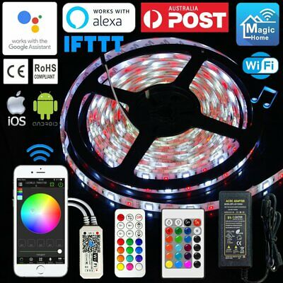1M-10M RGBW LED Waterproof Strip String Lights Smartphone Wifi +IR/RF Controller