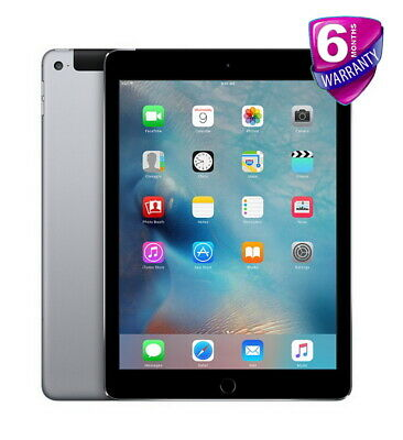 Apple iPad Air 2 2nd Gen 64GB Wi-Fi Cellular 4G Unlocked 9.7in Space Grey Tablet
