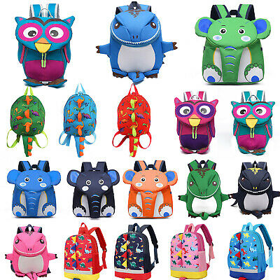 Kids Baby Animal Cartoon Walking Safety Harness Toddler Children School Backpack