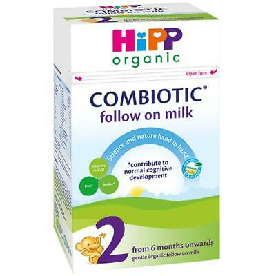 HiPP Organic Combiotic First Infant Milk - Stage 2 UK Version - 800g x 2 Boxes