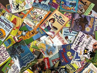 Huge Bulk Lot of 50 Children's Kids Chapter Books Instant Library Unsorted lot