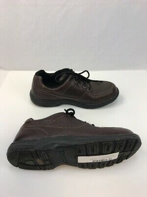 Dunham By New Balance Men's Brown Leather Lace Up Casual Oxfords Sz US 10.5 D