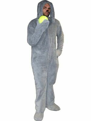 The REAL Wilfred the Dog Costume with Tail - Correct Gray Color - Seconds