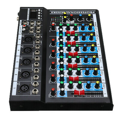 Bluetooth 7 Channel Live Studio Stereo Audio Mixer Sound Mixing DJ USB Console