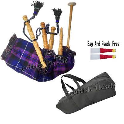 New Grover Trophy W600 Junior Child Size Scottish Bagpipes w// Instruction Sheet