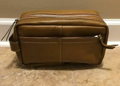 NEW Pottery Barn Beckett Leather Travel Toiletry Case