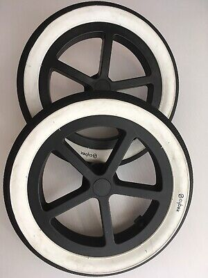 Cybex Priam Replacement Rear Wheels Clean All Terrain White Wall Spare Parts