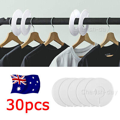 30pcs Clothes Plastic Size Dividers Hangers Shop Retail Round Hangers