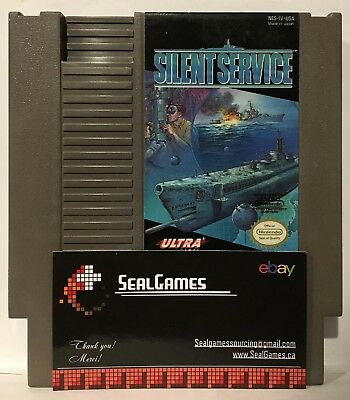 Silent Service (Nintendo Entertainment System, NES 1989) Authentic Oem Canadian