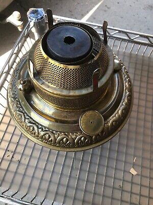 """Antique Brass Oil """"The Pittsburg"""" Store Lamp Font"""