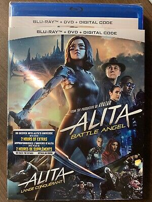 Alita Battle Angel Blu-Ray & DVD w Slipcover Canada Bilingual NO DC LOOK